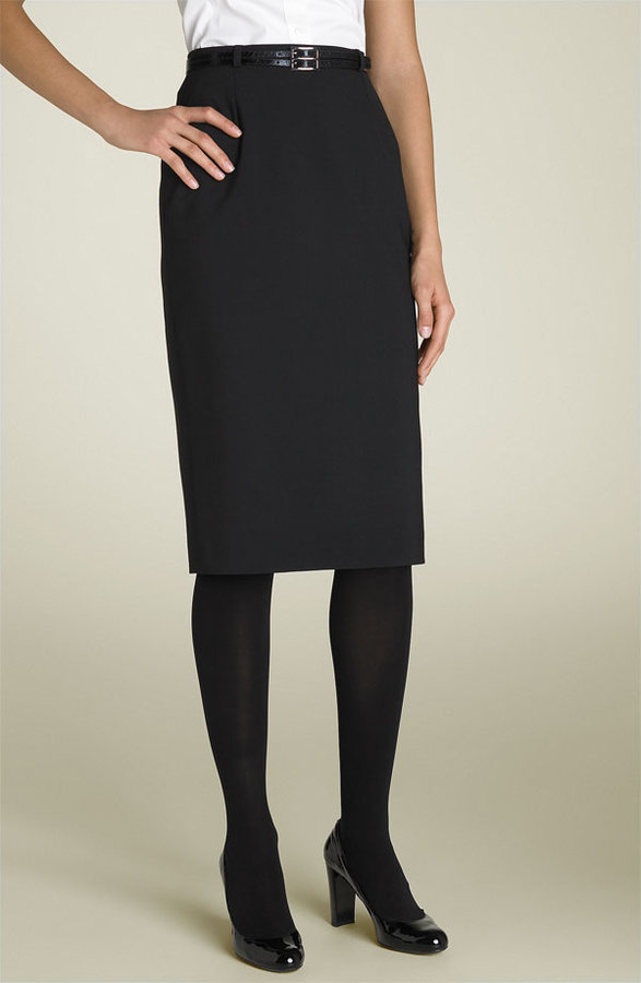 Helene Berman Belted Pencil Skirt