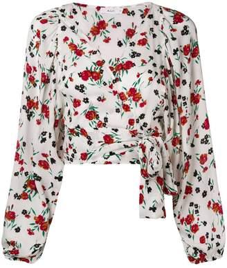 A.L.C. floral wrap blouse