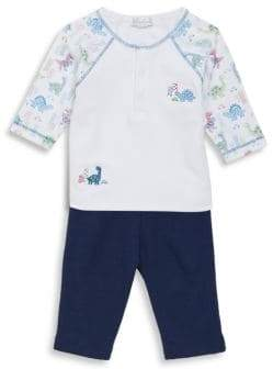 Kissy Kissy Baby's Two-Piece Downtown Dino Cotton Top and Pants Set