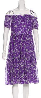 Ulla Johnson Short Sleeve Midi Dress