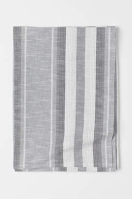 H&M Striped Cotton Tablecloth