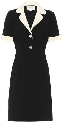Gucci Embellished stretch jersey dress