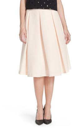 Eliza J Faille Midi Skirt $138 thestylecure.com