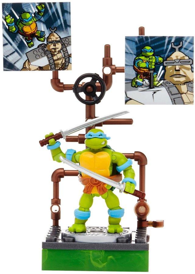 Mega Bloks Teenage Mutant Ninja Turtles Collectors 1987 Classic Leonardo Figure Action Figure