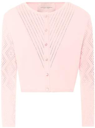 Carolina Herrera Cropped knitted cardigan