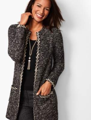 Talbots Shimmering Boucle Topper