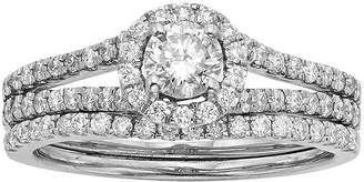 JCPenney MODERN BRIDE 1 CT. T.W. Certified Diamond 14K White Gold Bridal Ring Set