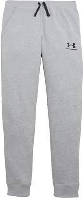Under Armour Boys Cotton Fleece Joggers - Grey Heather