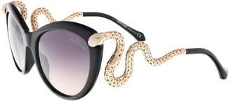 Roberto Cavalli Menkab Snake Temple Sunglasses in Black RC889S 01B Gradient Grey