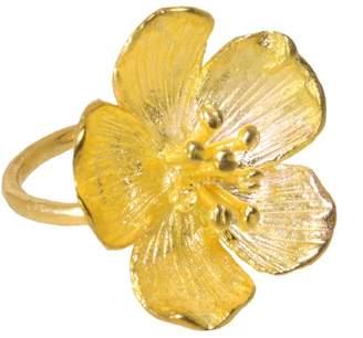 Ottoman Hands - Buttercup Gold Flower Cocktail Ring
