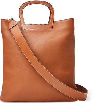 Ralph Lauren Horseshoe Tall Leather Tote Bag, Brown