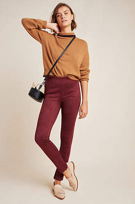 Anthropologie Faux Suede Leggings
