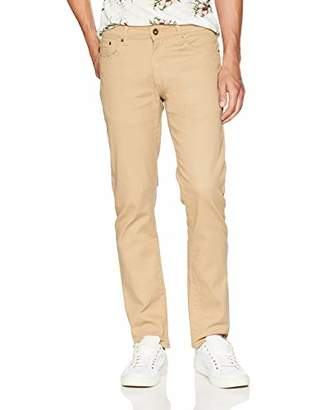 Southpole Men's Flex Stretch Basic Twill and Rinse Denim Pants