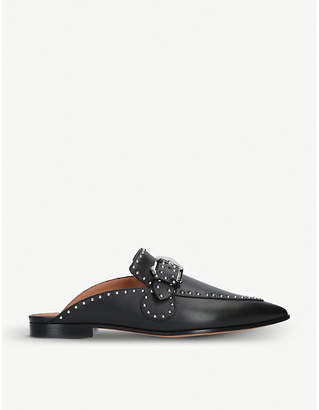 07d0089abe4 Givenchy Elegant studded leather backless loafers