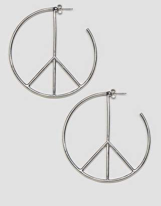 Cheap Monday Peace Earrings In Silver