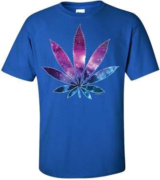 Co Dolphin Shirt Cosmic Cannabis Space Pot Leaf Galaxy T-shirt/tee