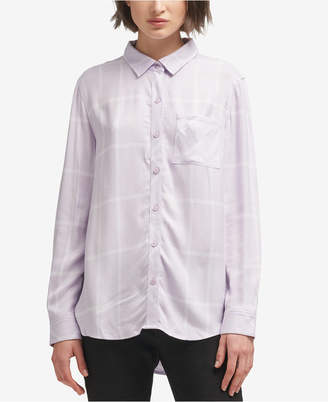 DKNY (ディー ケー エヌワイ) - Dkny Plaid Button-Up Shirt, Created for Macy's