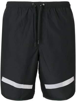 Neil Barrett stripe hem swimming shorts