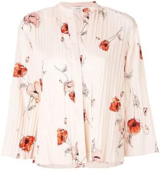 Vince floral plisse blouse