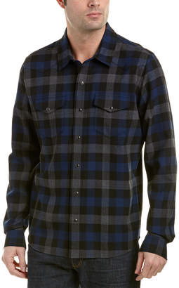 Vince Checked Plaid Wool-Blend Woven Shirt