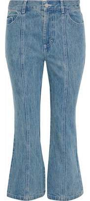 Sandy Liang Winkle High-Rise Kick-Flare Jeans