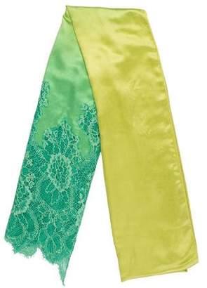 Valentino Silk Lace Accent Shawl