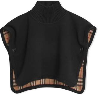 7b6840a8d6b Burberry Reversible Vintage Check Merino Wool Jacquard Poncho