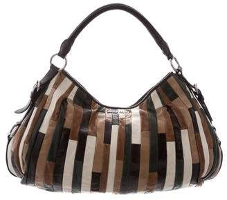 Miu Miu Leather Patchwork Hobo