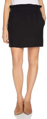 1 STATE 1.STATE Paper-Bag-Waist Mini Skirt