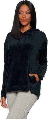 Anybody AnyBody Loungewear Velour Hooded Sweatshirt