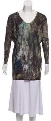 Helmut Lang Long Sleeve Printed Top