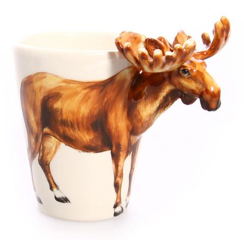 Blue Witch Ceramics Moose Mug