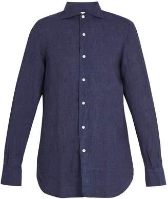 Finamore Gaeta spread-collar linen shirt