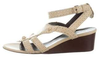 Balenciaga Studded Cage Wedges