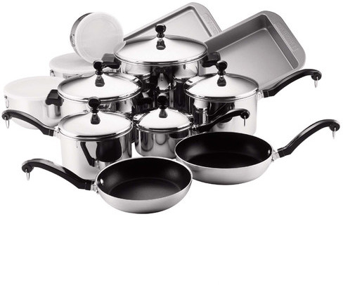 Farberware Classic Stainless Steel 17 Piece Cookware Set