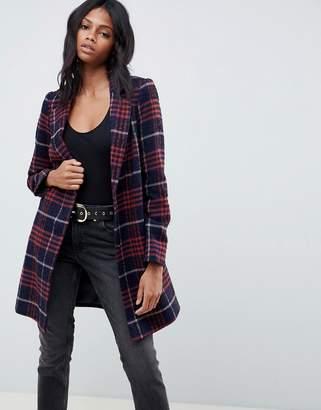 Asos Design DESIGN slim coat in textured check