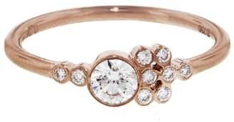 Yannis Sergakis Adornments La Pierre Asymmetric Diamond Ring - Rose Gold