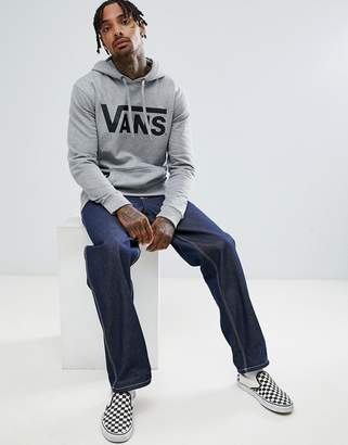 Vans Classic pullover hoodie in gray v00j8nady