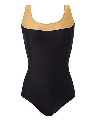 Jd Williams Panelled Sports Swimsuit