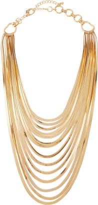 Lydell NYC Multi-Strand Long Bib Necklace
