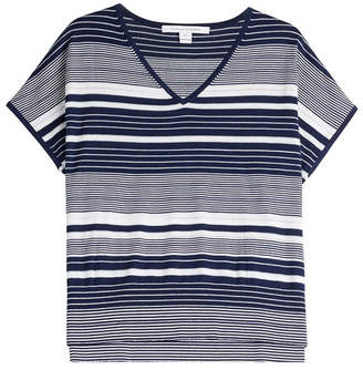 Diane von Furstenberg Silk-Cotton Boxy Knit Top
