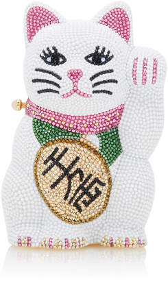 Judith Leiber Couture Beckoning Lucky Cat Clutch
