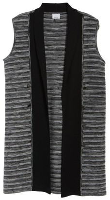 Women's Ming Wang Ribbed Tweed Vest $155 thestylecure.com