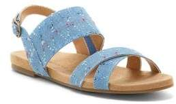 Lucky Brand Chaylan Denim Slingback Sandals