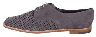 Manolo Blahnik Suede Perforated Oxfords