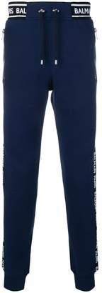 Balmain logo band track trousers