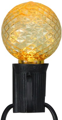 Northlight Seasonal 25 Multi-Colored Faceted LED G40 Replacement Christmas Bulbs
