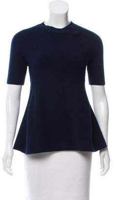 Jason Wu Rib-Knit Ruched Sweater