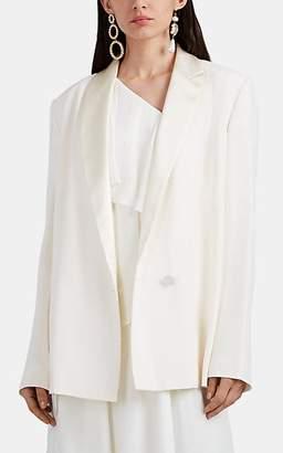 Lanvin Women's Asymmetric-Lapel Tuxedo Jacket - Cream