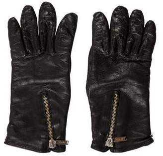 Chanel Leather Zip Gloves